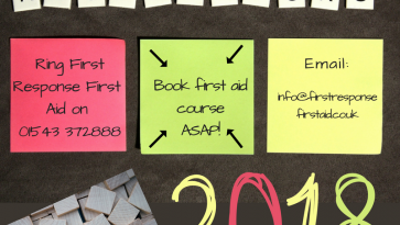 Is one of your new year resolutions to learn first aid?