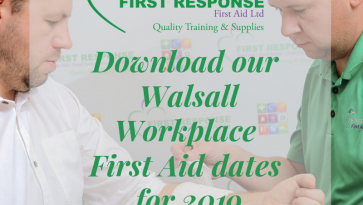 Download our 2019 First Aid training dates in your area