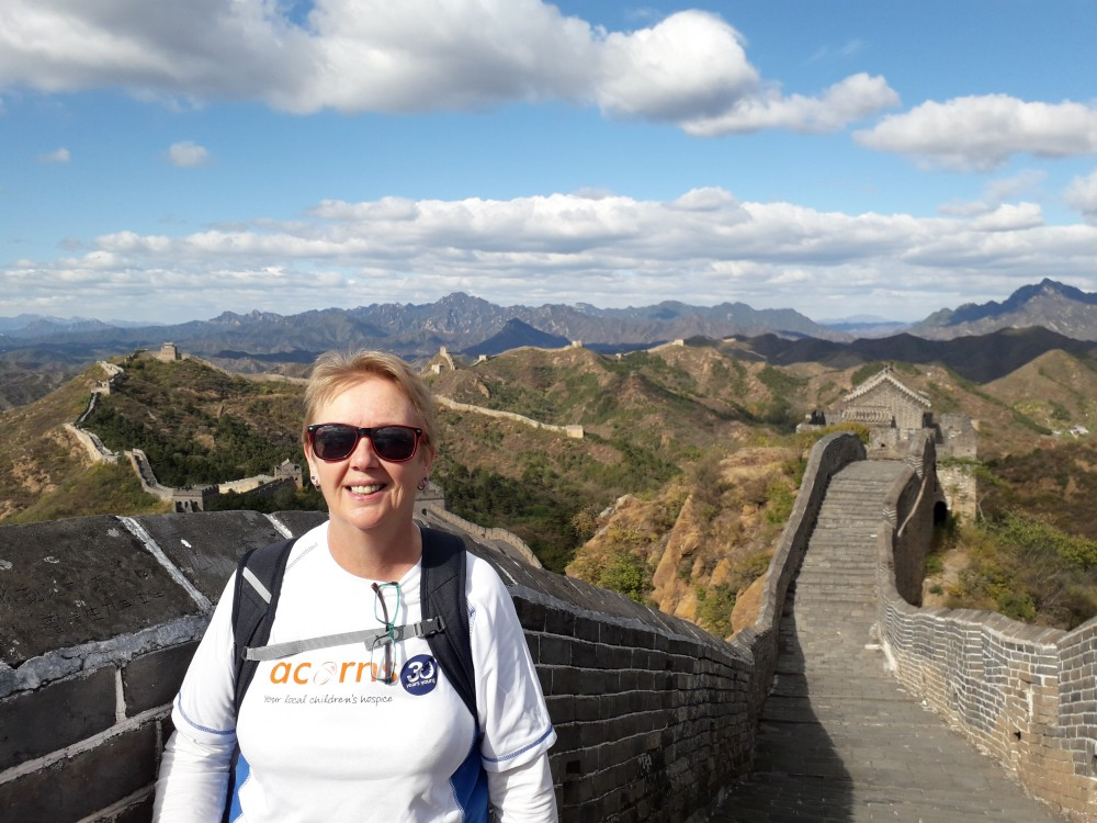 First Response First Aid's Food Safety Trainer, Joan Goodger on the Great Wall of China